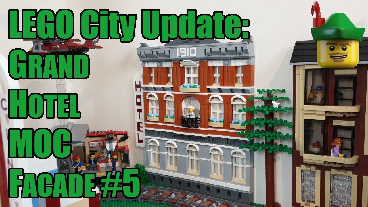 LEGO City Update - Grand Hotel MOC - Facade #5 10224 10182 ...