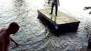 Launching the boat dock !!