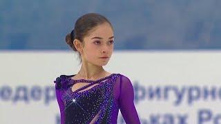Аделия Петросян Короткая программа Девушки Сочи Кубок России по фигурному катанию 2020 21