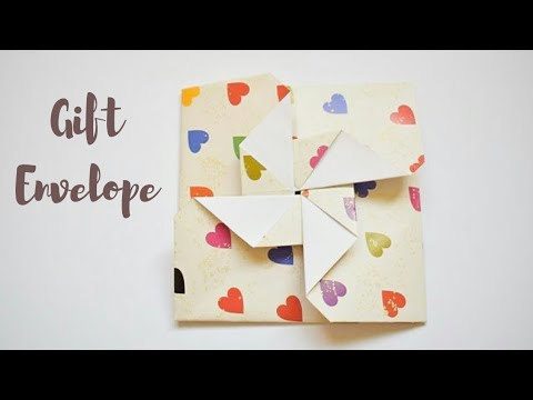Easy Gift Card Envelopes  | DIY Envelope Making Ideas #envelopegiftcard