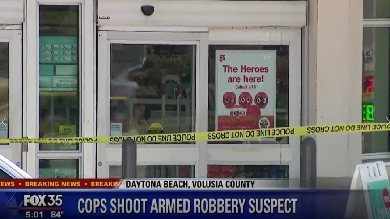Armed robber shot at Daytona Beach Walgreens, demanded drugs from pharmacy