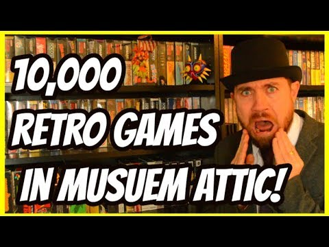 10,000 Retro Games Collection In Museum Attic - Gaming Archive Tour - THGM