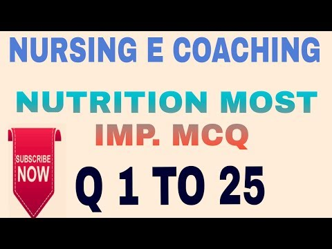 NUTRITION IMP  QUESTIONS FOR AIIMS AND DSSSB AND ALL NURSING