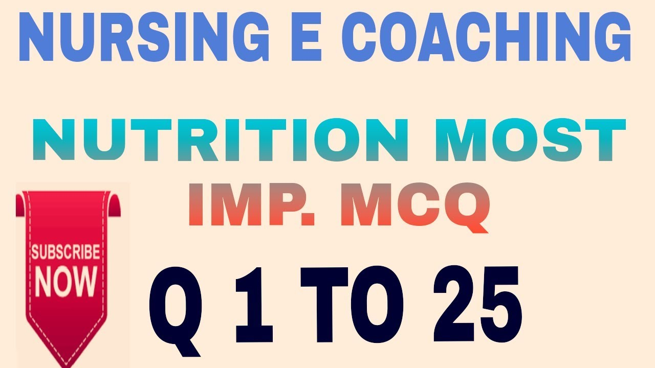 NUTRITION IMP  QUESTIONS FOR AIIMS AND DSSSB AND ALL NURSING EXAM
