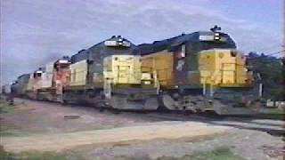 Trains In Northern Illinois 1990- 8 Minutes Of Highlights!! Full 1 Hour 18 Min Dvd Available On Ebay
