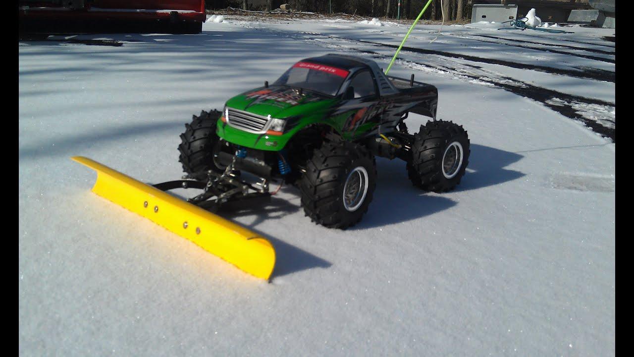 RC Snow Plow: Pool Lot/Bashing (Episode 4) - YouTube