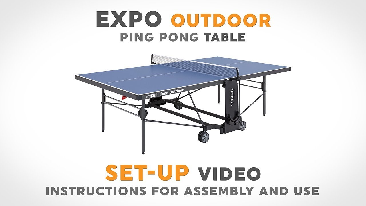 Expo Outdoor Ping Pong Table - Set-Up Video  sc 1 st  YouTube & Expo Outdoor Ping Pong Table - Set-Up Video - YouTube