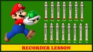Super Mario Bros 【Recorder Notes Tutorial】