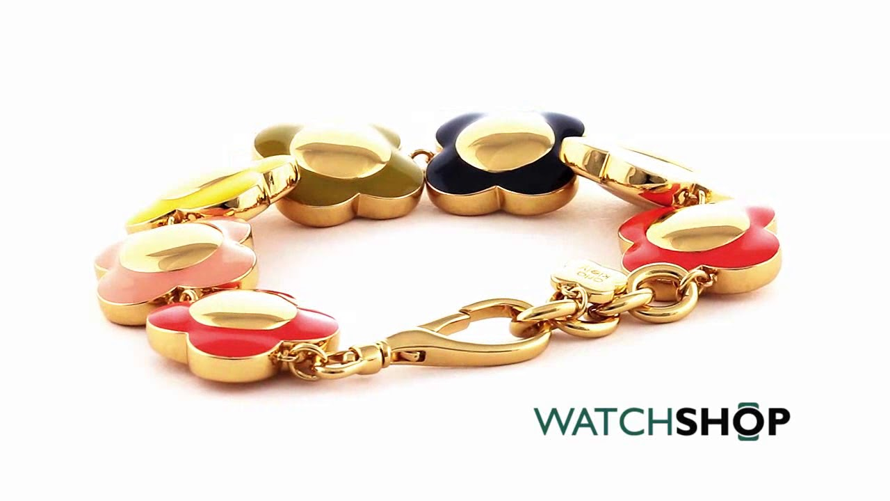 Orla Kiely Jewellery Ladies  Multi colour gold Chunky Flower Bracelet  (B4795) b152112f3
