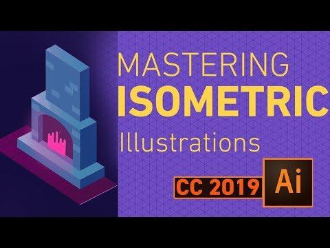 Adobe illustrator cc 2019 isometric tutorial  |  isometric grid Designs #GSFXMentor #gsfxmentor