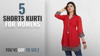 Top 10 Shorts Kurti For Womens [2018]: ALC Creations Women's Chiffon A-Line Short Kurti