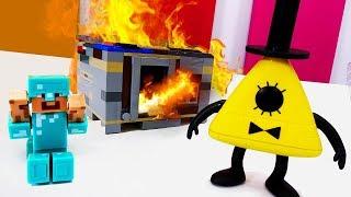 Секреты игры Майнкрафт - Пожар в доме Стива Майнкрафт!