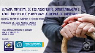 """Convite: Câmara sedia palestra """"Doença de Parkinson e atividade física"""""""