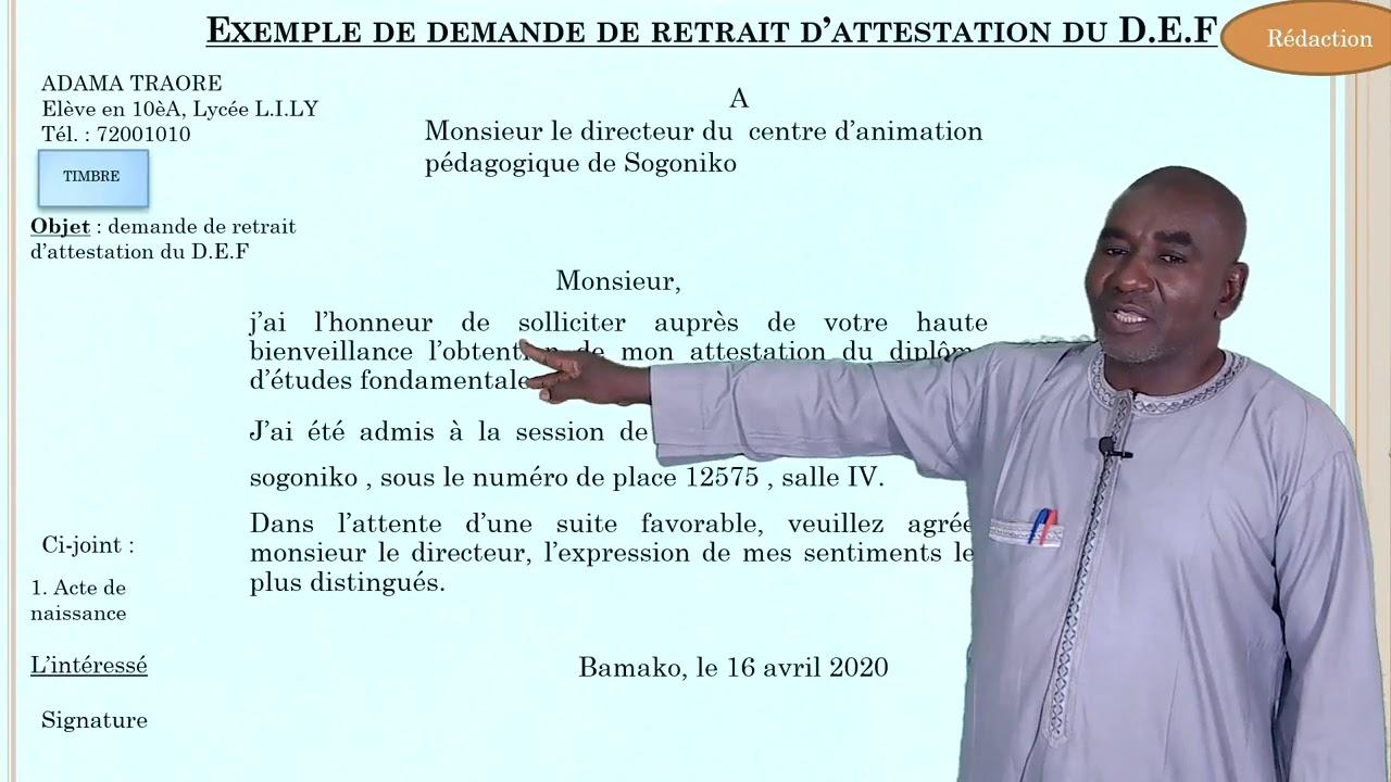 Lettre administrative : Exemple de demande de retrait d ...