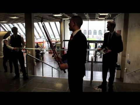 Aaron Heffernan opens the Arts Block
