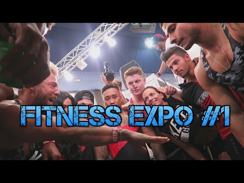Basel VLOG #1 | Training, Fitness Expo Day 1, Stand Aufbau!
