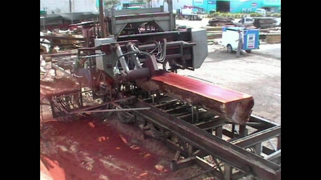 Portable Sawmill For Sale >> Bandsaw Mill - For Sale - mobile diesel hydraulic sawmill 3 - YouTube