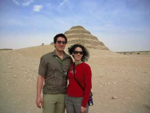 Daniel & Rachel at Sakkara - The Step Pyramid
