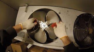 Refrigerator Repair: Replacing The Evaporator Fan Motor (Walk In Freezer)