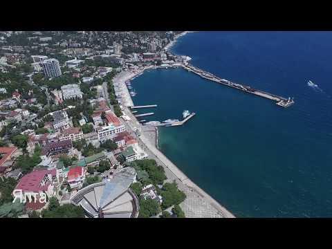 Крым Ялта Гурзуф море с высоты полета Санатории Отели