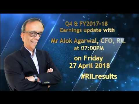 #RILresults for Q4 & FY2017-18 on 27 April 2018