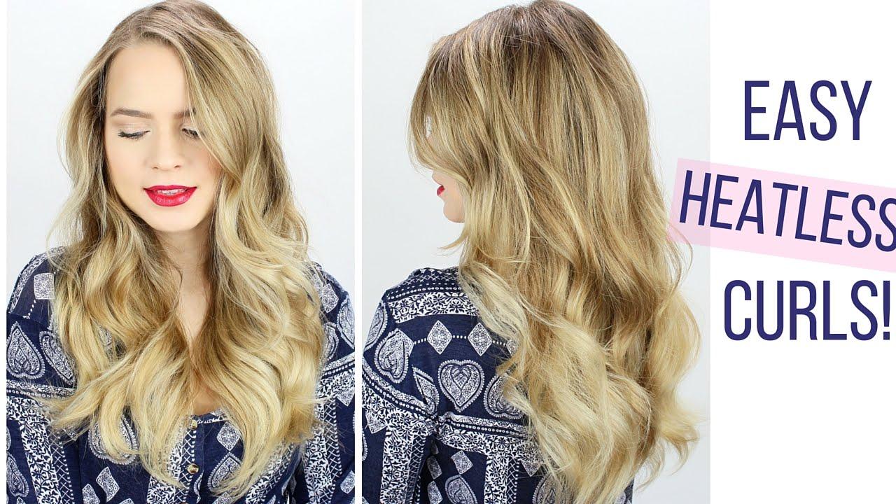 Easy Heatless Curls Hair Tutorial Youtube