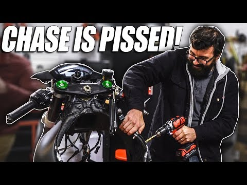 We DESTROYED Chase's Motorcycle Build!!!
