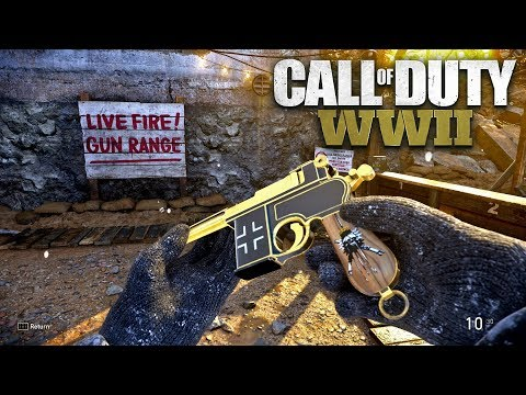ROAD TO CHROME (GOLD MACHINE PISTOL ) - Call of Duty: WW2 Multiplayer Gameplay