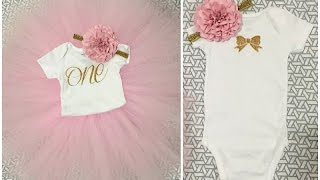 Gambar cover TUTORIAL: DIY 1st Birthday Onesie & Tutu Outfit