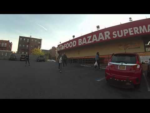 Going to the supermarket, Myrtle Avenue, Brooklyn, New York, United States
