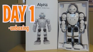 day 1 unboxing alpha 1s humanoid robot review intelligent robot like cozmo