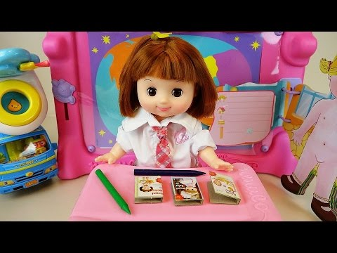 Baby Doll School play, toilet toys and Kinder joy surprise eggs mart registers