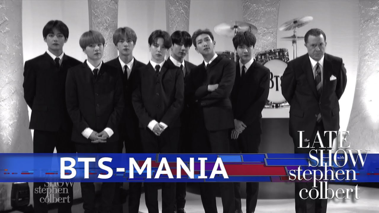 BTS Reenacts 1964 'Ed Sullivan Show' Beatlemania With Stephen