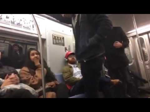 Trump supporter/journalist Charles C. Johnson confronted on subway