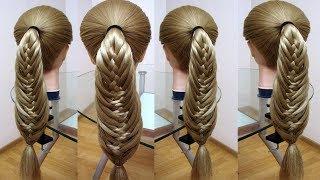 Коса Рыбий хвост  Коса для девочки  Красивые косы Hair tutorial