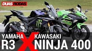 COMPARATIVO   YAMAHA R3 x KAWASAKI NINJA 400