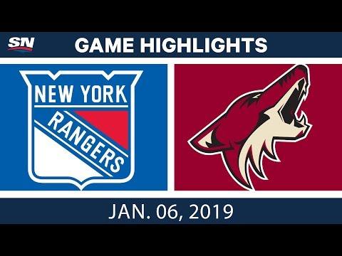 NHL Highlights   Rangers vs. Coyotes - Jan. 6, 2019