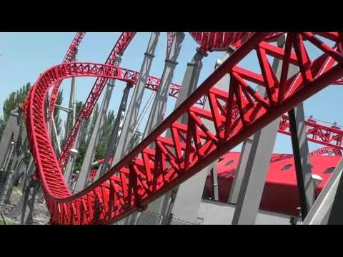 iSpeed Roller Coaster POV - Front Seat - Mirabilandia, Italy