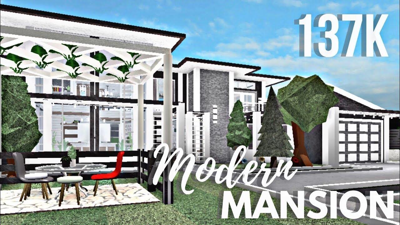 Roblox Bloxburg Modern Family Mansion Youtube