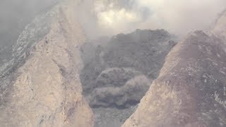 Detailed view of Extrusion Lobe collapse, Sinabung Volcano thumbnail