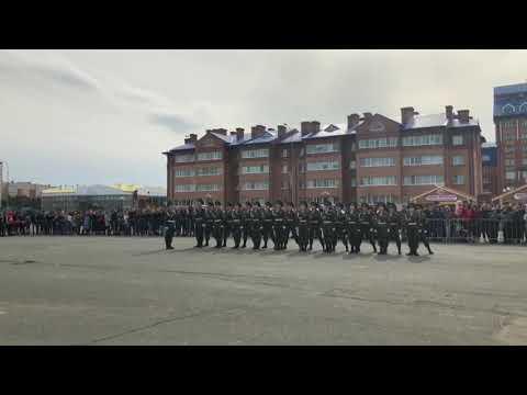 Строевая 6 Школа Нягань 2018 г.