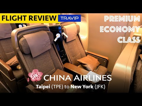 China Airlines Premium Economy Class to New York | Travip Flight Review