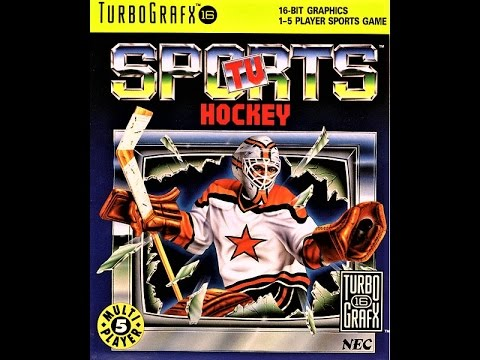 (EPISODE 1,442) RETRO GAMING: LET'S PLAY TV SPORTS HOCKEY (TurboGrafx-16) USA VS RUSSIA