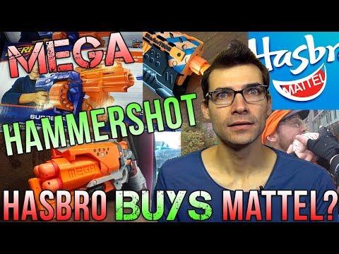 Hasbro Buying Mattel, Mega Hammershot, Blaster On Shelves Early! This Week In Nerf News #33