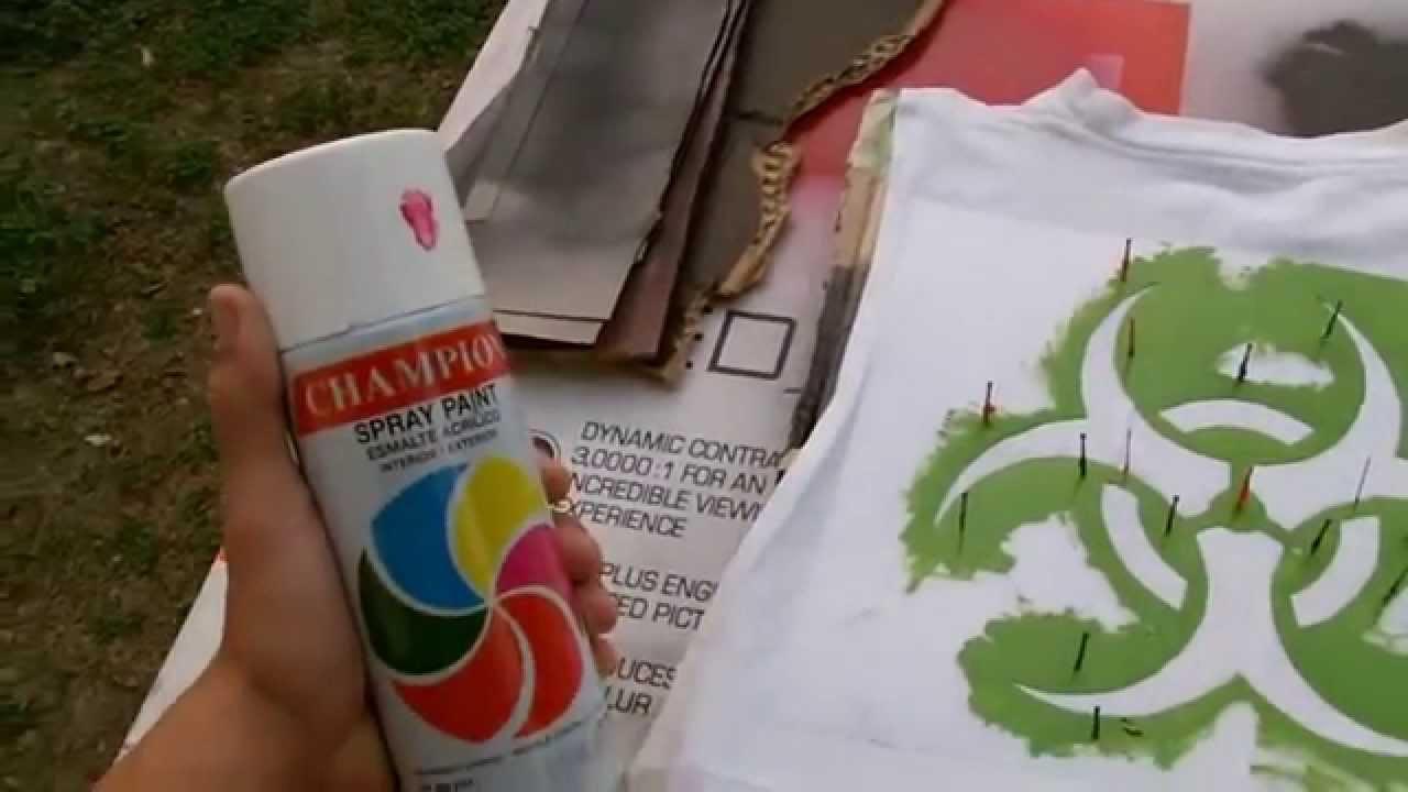 Como estampar tus playeras o camisetas tutorial youtube - Plantillas para pintar camisetas ...