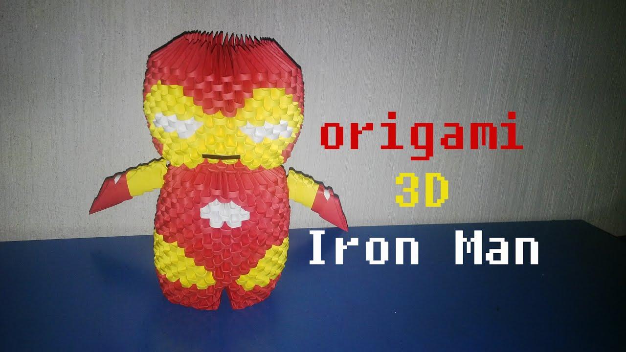Origami 3D Iron Man
