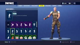 "Fortnite Battle Royale NEW ""Battlehawk"" Skin Showcased with 30 Dances/Back Blings Season 4"