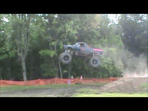Mega Mud Truck The SHOCKER Gets Huge Air at Kirbys Kompound