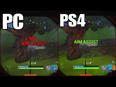 fortnite sniping on pc vs on console aim assist - fortnite pc aim assist with mouse