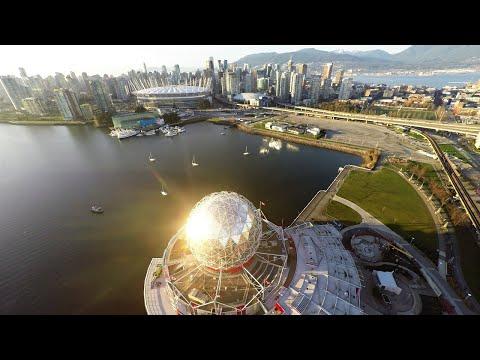 Vancouver Downtown Aerial Shots in 4K - GoPro 4 - Dji Phantom 2 Drone